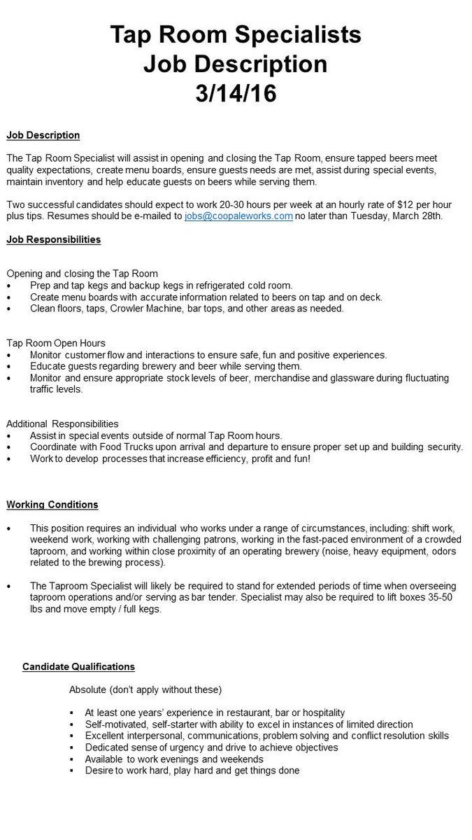 if youre looking to break into craft beer send your resume to jobscoopaleworkscom httpstcovaan8loymc
