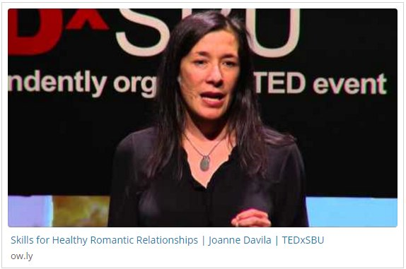 Ted talks healthy relationships