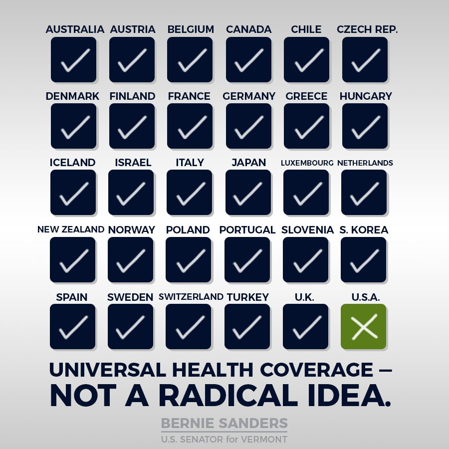 Remember: we are still the only major country to not guarantee health care to all its people. We\'ve got work to do.