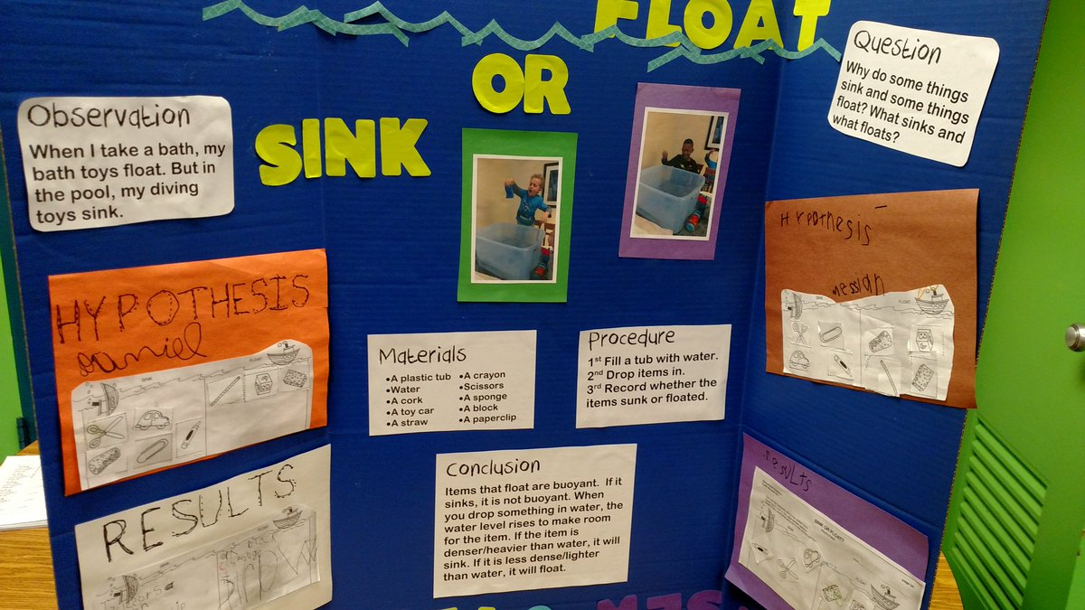 Does it sink or float science fair project sinks ideas for Fishing science fair projects