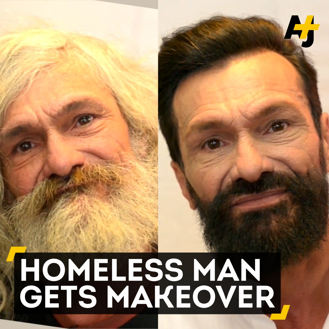 This 55-year-old homeless man gets an incredible makeover. You have to see his reaction.