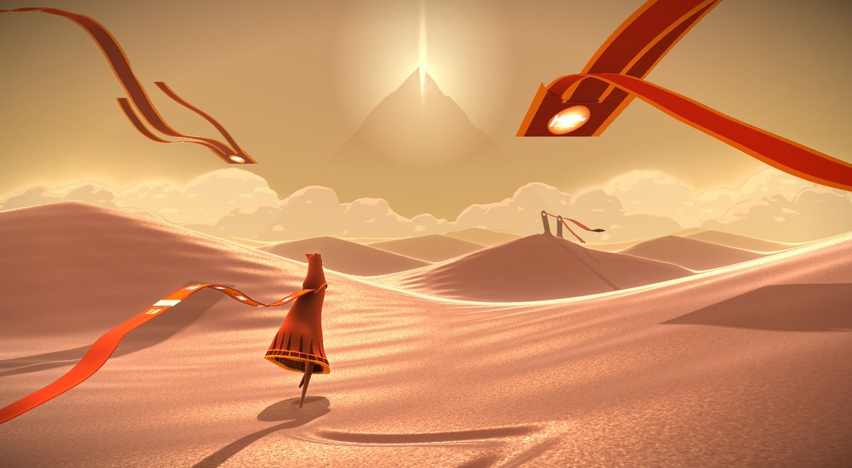 My tribute to Journey @Shadertoy shader is live now: shadertoy.com/view/ldlcRf