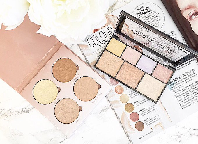 MY THREE GO-TO TRAVEL FRIENDLY HIGHLIGHT PALETTES