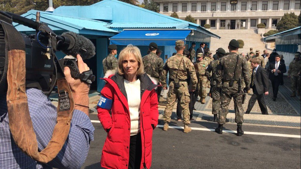 At the DMZ as #RexTillerson threatens military action if North Korea doesn&#39;t give up its nukes @NBCNightlyNews<br>http://pic.twitter.com/l0eNJxEhxh