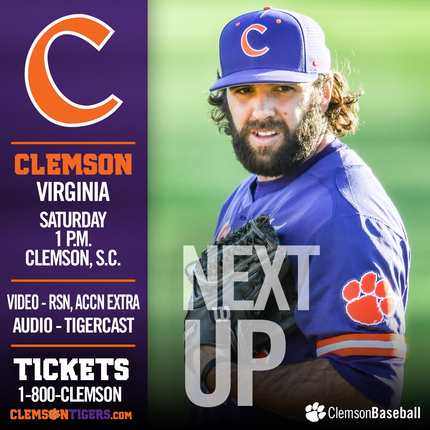 It's a new day at DKS when #Clemson plays No. 11 Virginia at 1 p.m.! 🐾  GAMEDAY - https://t.co/ZH1qSezomY https://t.co/tjfQkPwCQb