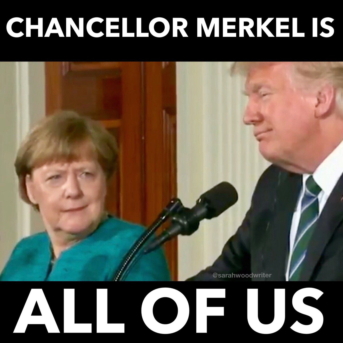 Viral News From Germany: Angela Merkel Looks Bemused By Donald Trump's Wiretapping