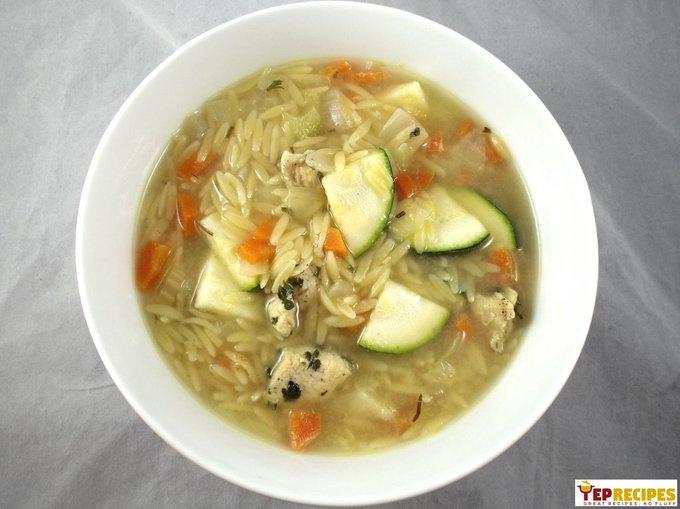 Chicken Zucchini Orzo Soup