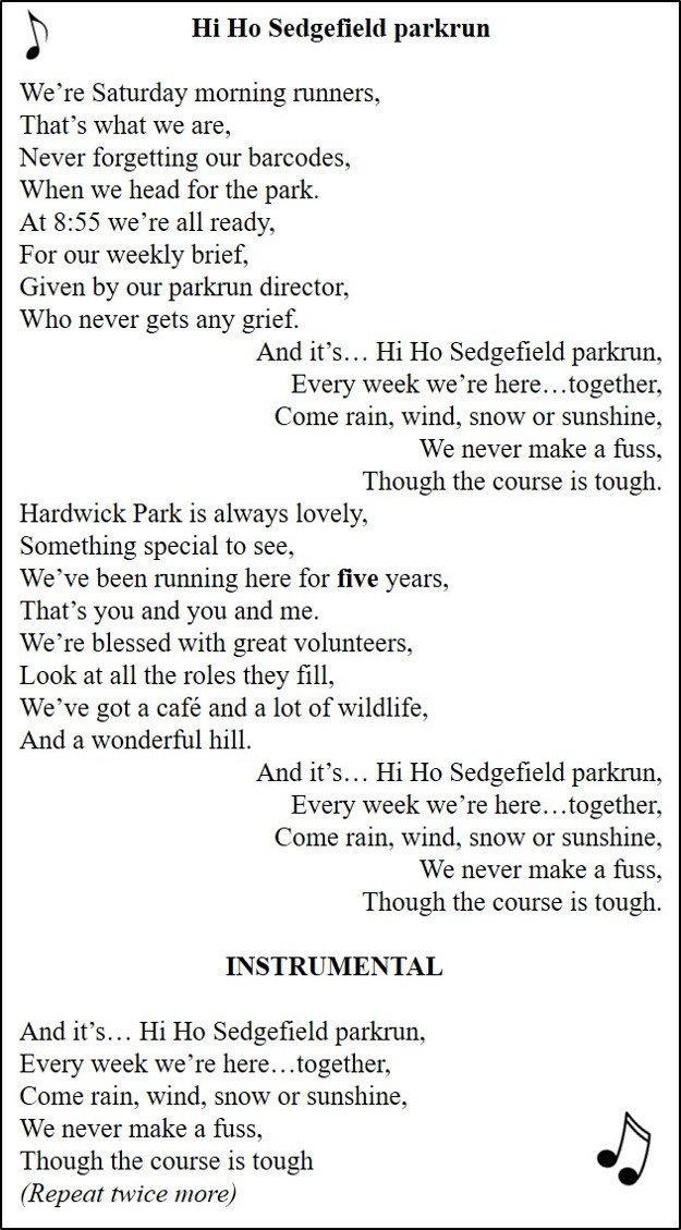 Sedgefield parkrun on Twitter: