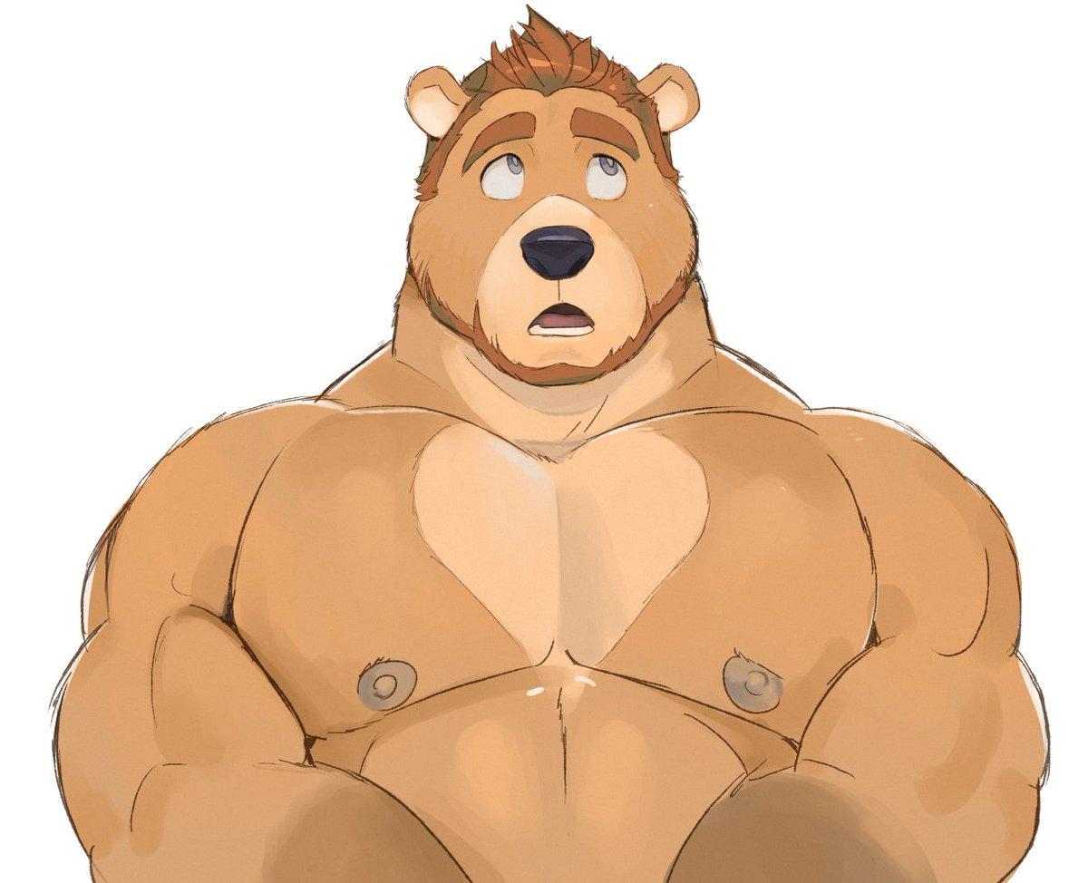 Накаченный медведь картинка