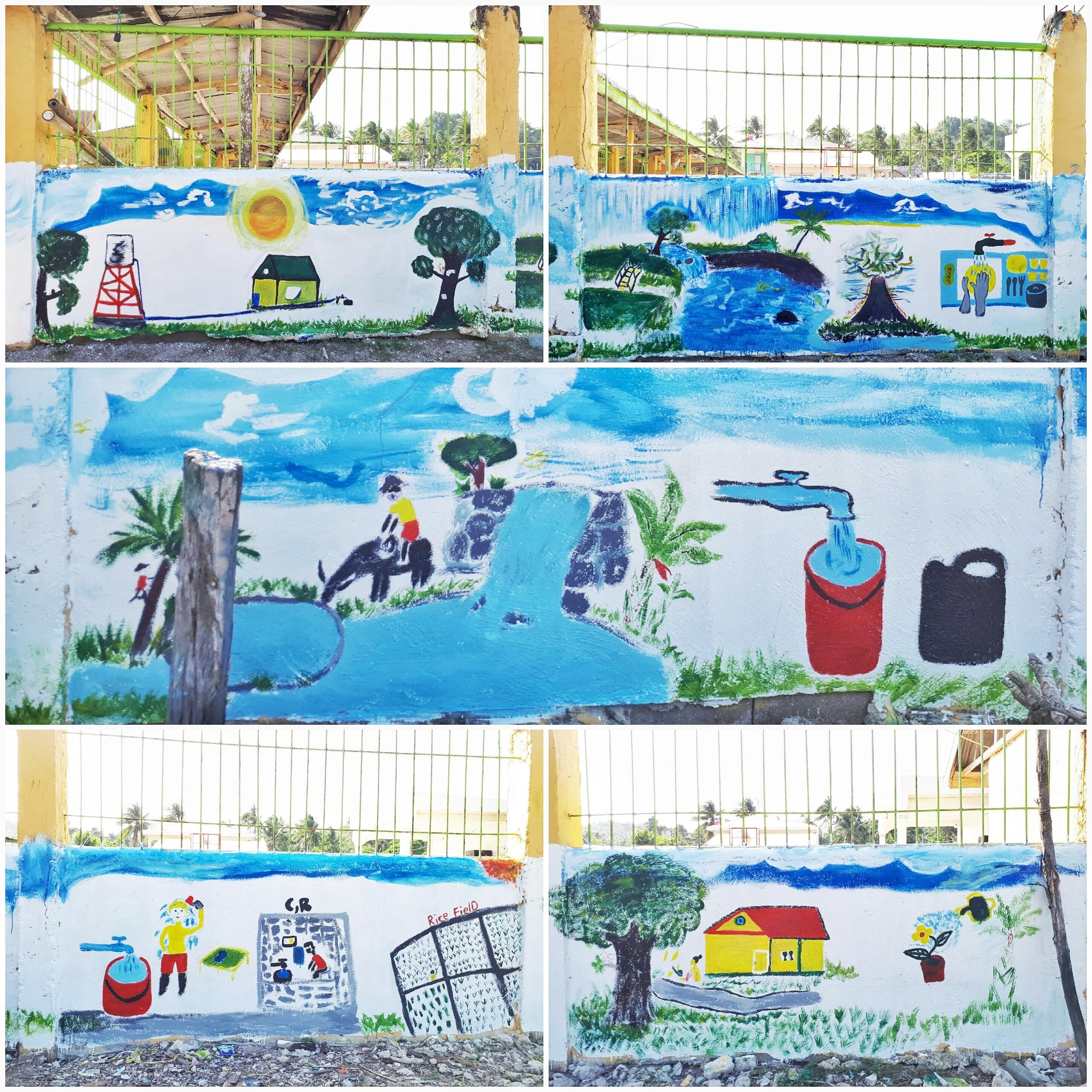The #iWaSH community mural in Aroroy Masbate has been conceptualized by school boys and girls and their mothers. #WWDPH #GlobalGoals https://t.co/KAou8Ayi31