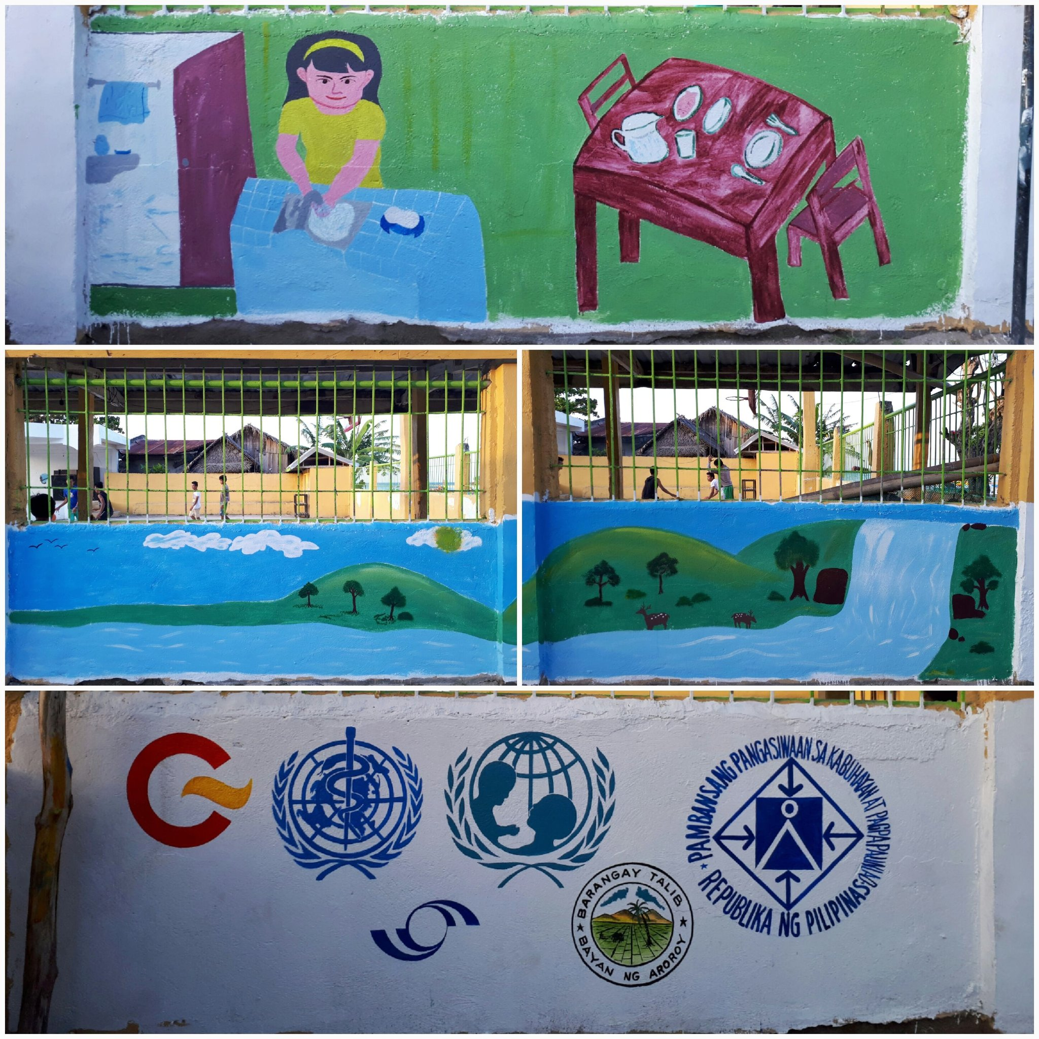 The #iWaSH community mural in Aroroy Masbate has been conceptualized by school boys and girls and their mothers. #WWDPH #GlobalGoals https://t.co/kuUbIdd617