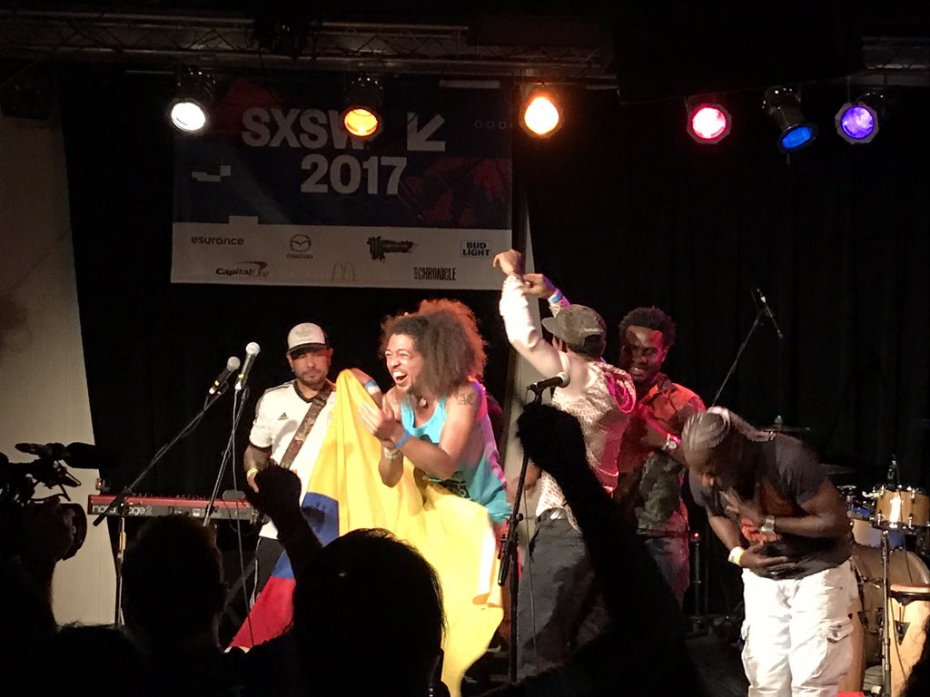 . @TribuBaharu made everyone dance so much!! #SXSW https://t.co/nJbD67sEWj