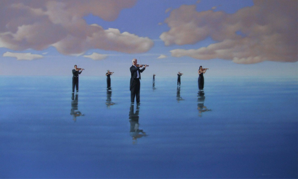 Symphony in the sea #Violin #Orchestra #painting #art #Australia<br>http://pic.twitter.com/mLGKLQJnzj