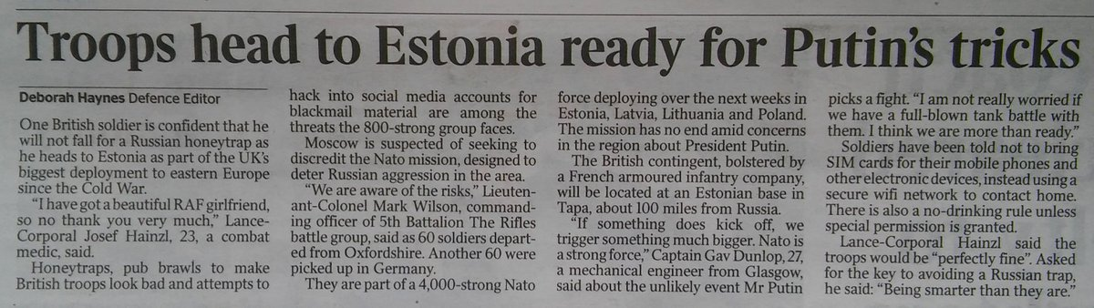 Russian troops are not on UK borders, but the British soldiers are on ours. https://t.co/w17GHOTdOL