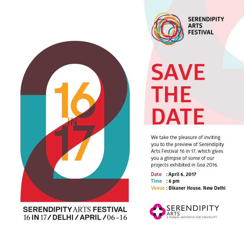 A festival of crafts, design installation, performances, photography.  #SerendipityArtsFestival #16in17 #SaveTheDate