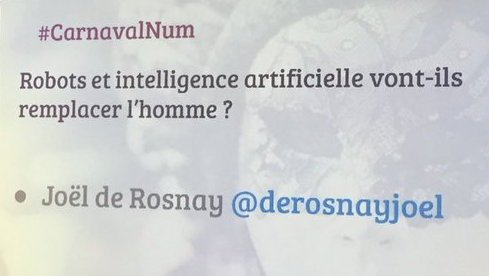 Un humanisme augmenté en vivant en symbiose avec l'#IA. Choisir notre futur ! La vision positive de @derosnayjoel à #CarnavalNum https://t.co/pfgqjMbFN9