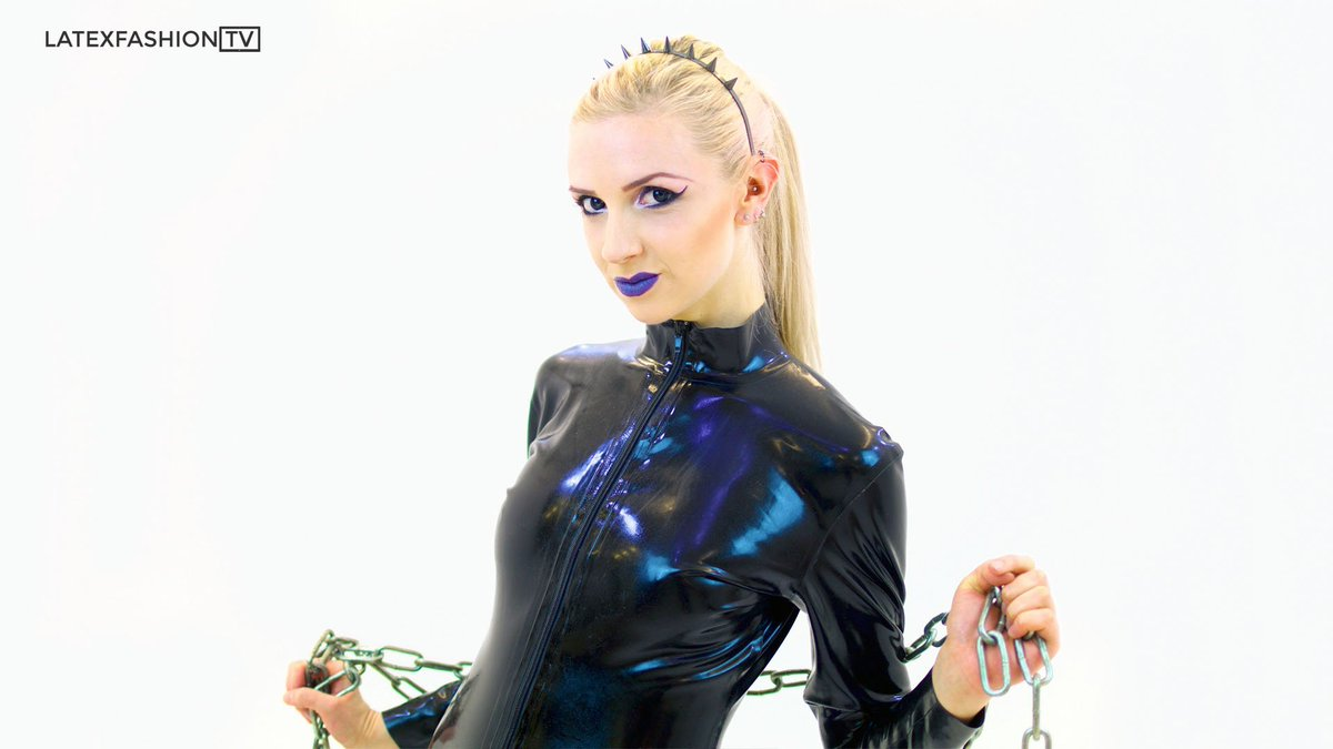 Something Blonde latex catsuit assured, that
