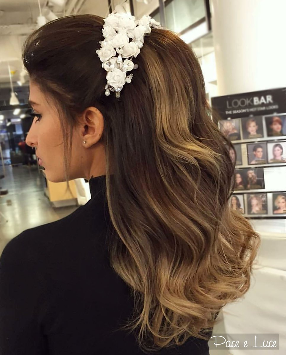 "pace e luce official on twitter: ""gorgeous wavy bridal hairstyle"