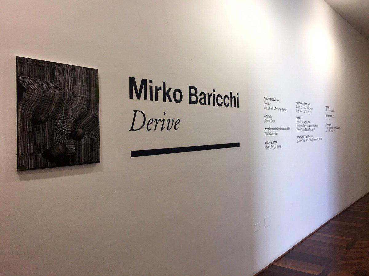 RT @CSArt09 #MirkoBaricchi al #CAMeC #LaSpezia con la mostra #Derive, a cura di @DanieleCapra. Opening 18 marzo, ore 19. ☞ https://t.co/77P7DHOLLC