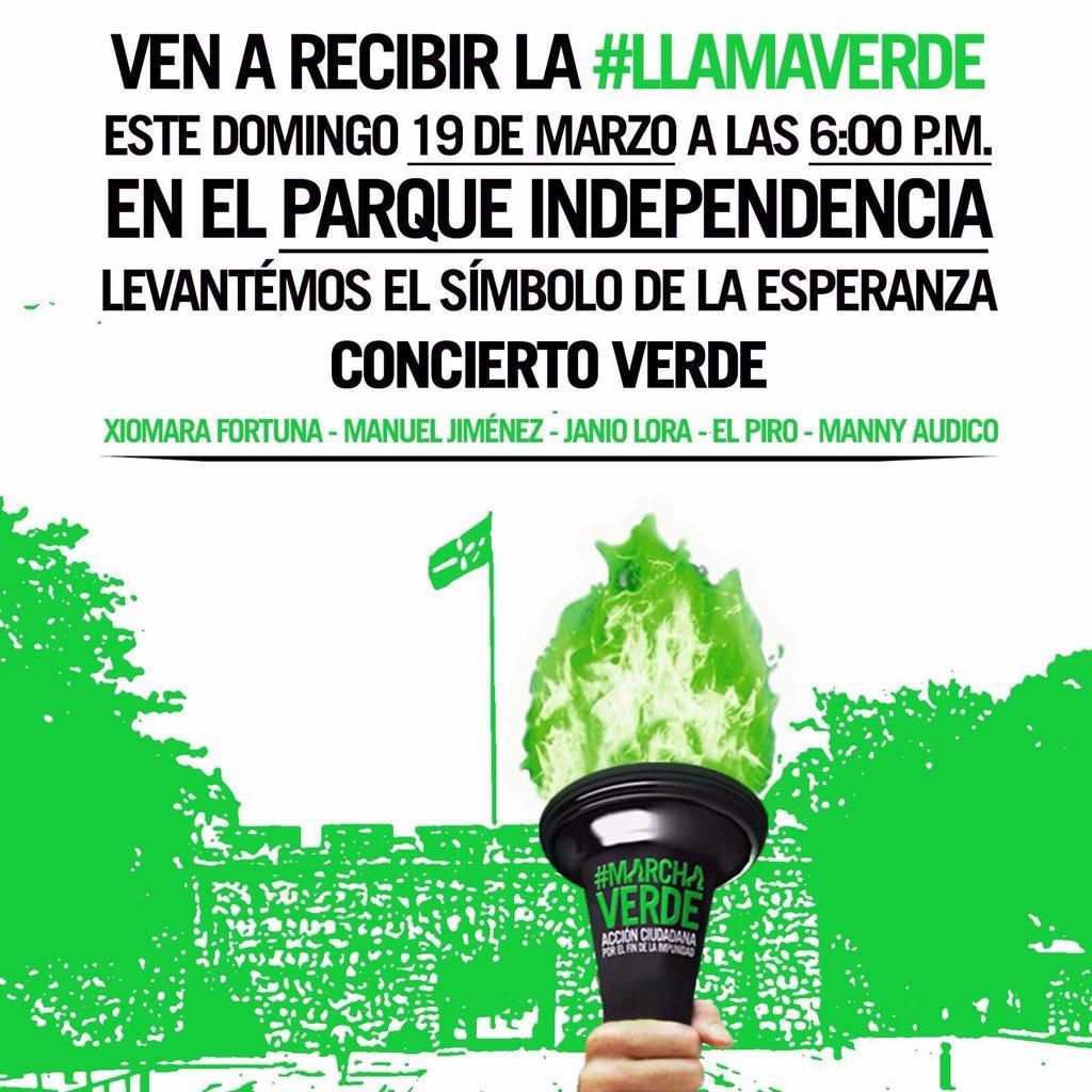Hola @Farideraful, la #LlamaVerde por el #FinDeLaImpunidad llega mañana al Parque Independencia, ven a recibirla! https://t.co/0Kghz0c9Ke