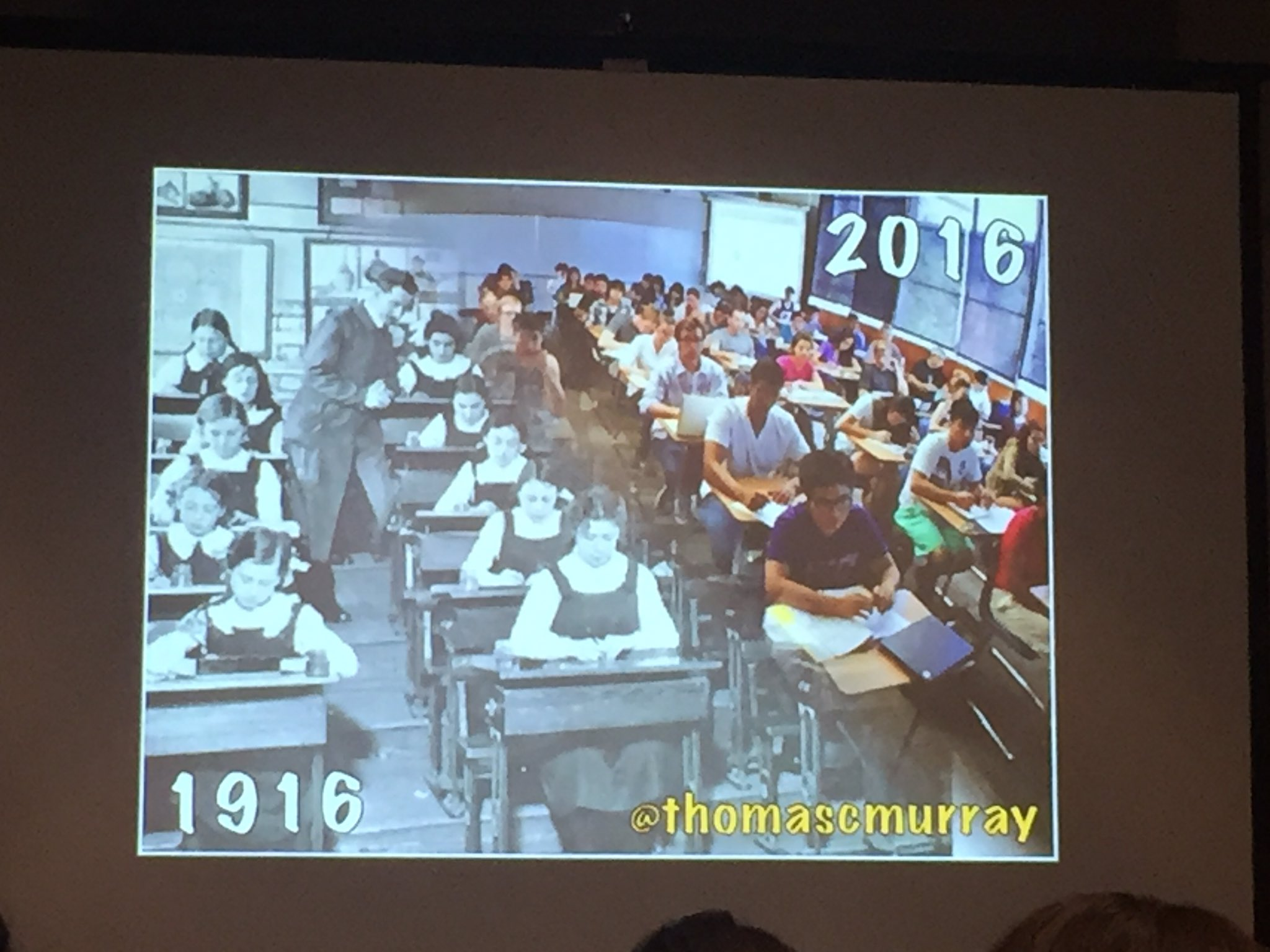 """How much has edu changed in past 100 yrs? We need to prepare kids for this world, not the world we grew up in..."" @thomascmurray #cue17 https://t.co/JOf2adlpi3"
