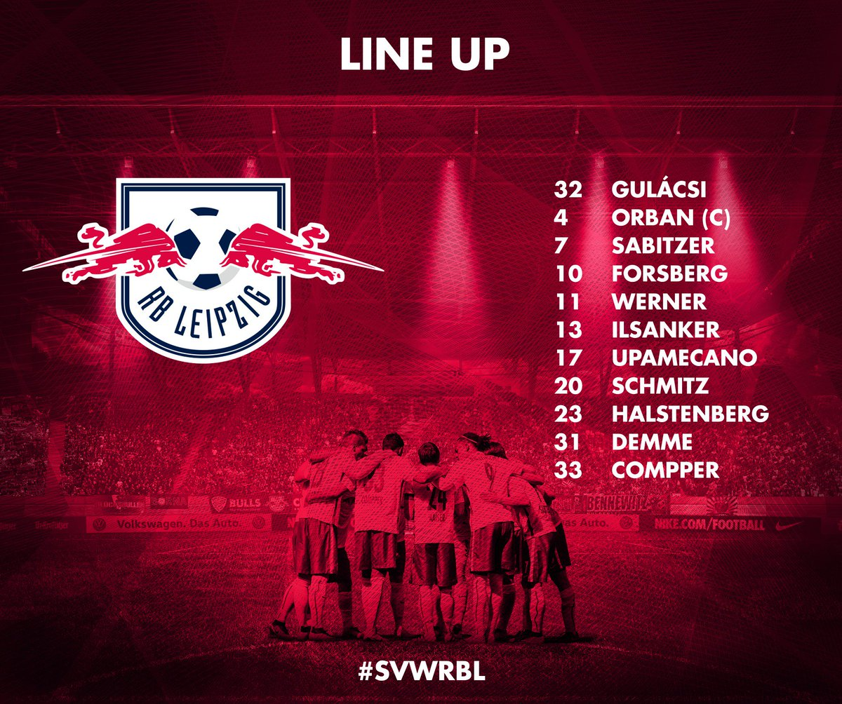 Rb Leipzig English On Twitter Our Starting Xi To Face Werderbremen En Svwrbl