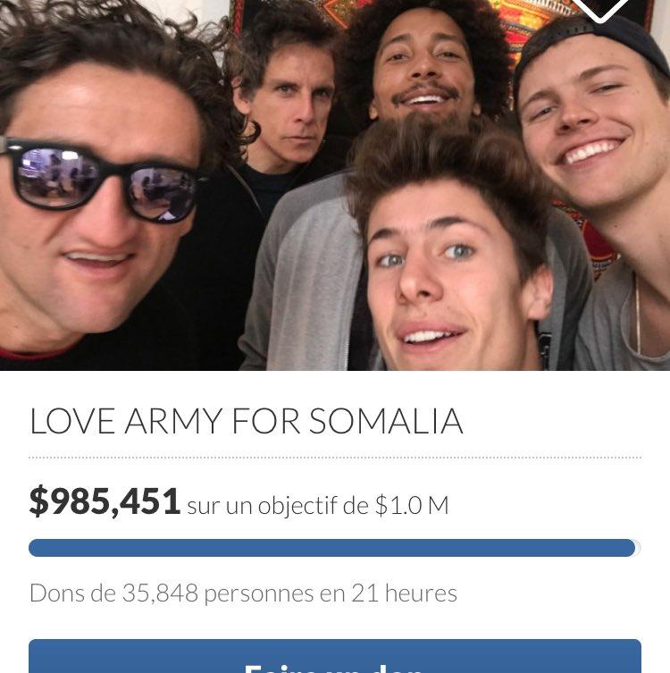 Bientôt le million #LoveArmyForSomalia