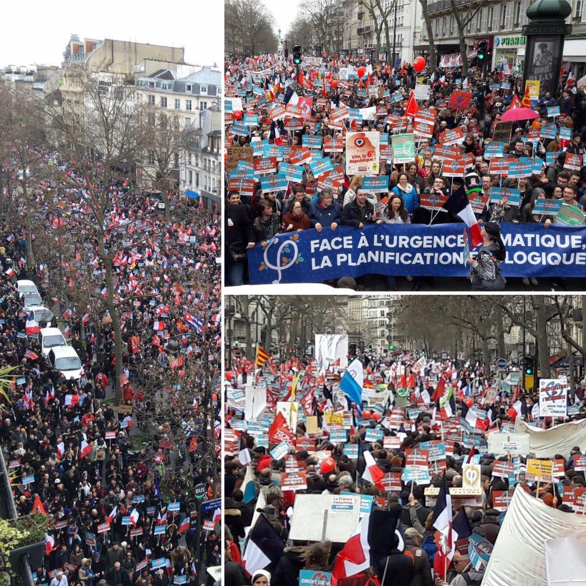 Énormément de monde dans le boulevard entre #Bastille et #République ! #18mars2017 - 18mars2017.fr