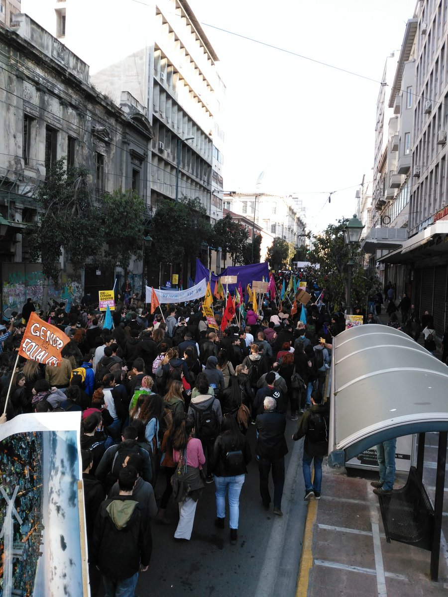 #18M thousands take to the streets of Athens on antirasism  day to protest the Dublin agreement