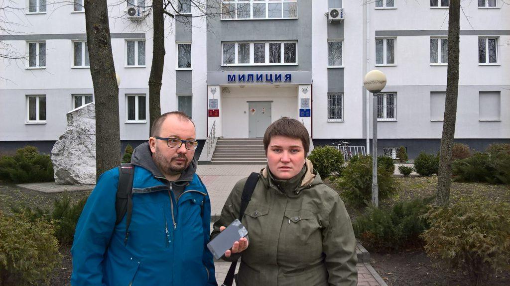 В Кобрине задержали журналистов «Белсат» Алеся Левчука и Милану Харитонову