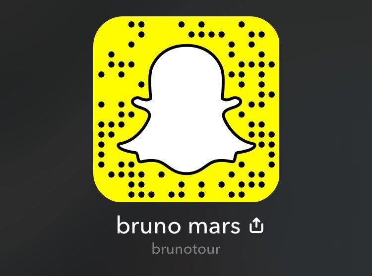 Bruno mars snapchat
