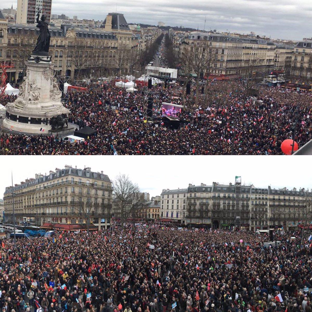 Nous sommes 130 000 rassemblés pour la 6e République ! #18mars2017 #Bastille #République - 18mars2017.fr