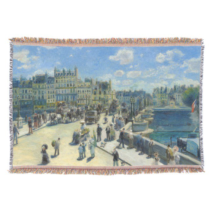 Pont Neuf Paris Pierre-Auguste #Renoir Throw #Blanket   https://www. zazzle.com/z/3l9t8  &nbsp;  <br>http://pic.twitter.com/LADelb7JvZ