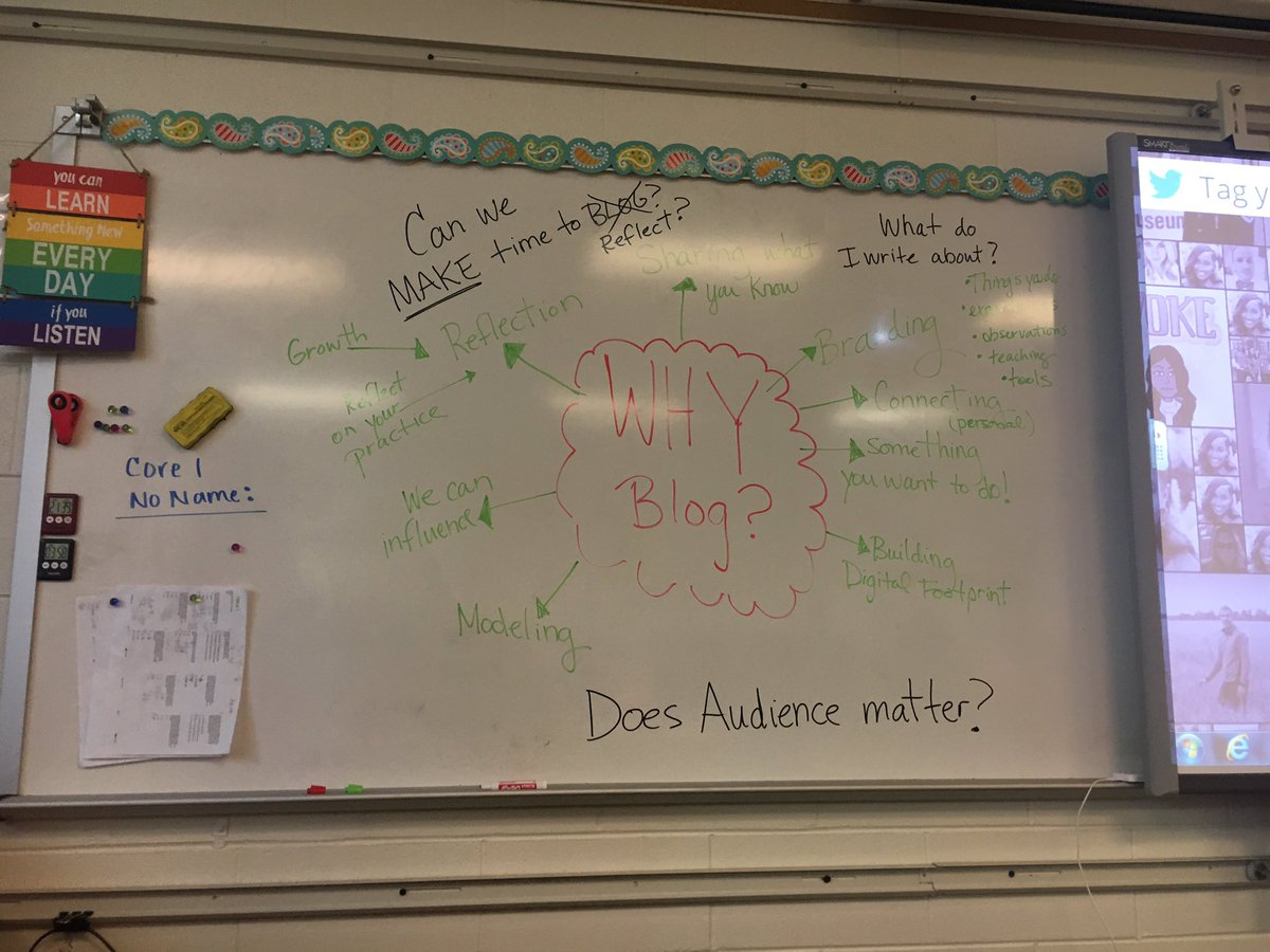 Why Blog?  How can a blog help you as an educator?  Find out what I experienced while at EdCamp that I can bring back into my classroom.