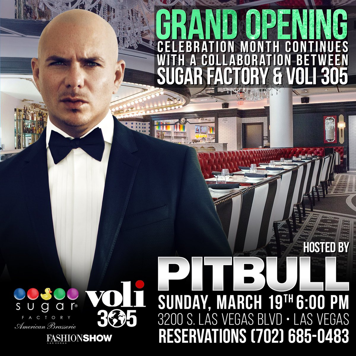 Join the grand opening party in Vegas with @SugarFactory and @Voli305V...