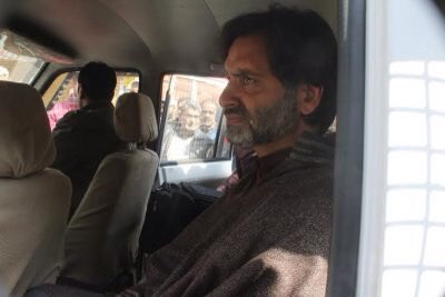 India police arrested Jammu  and Kashmir Liberation Front Chairman Muhammad Yasin Malik in Srinagar, Kashmir