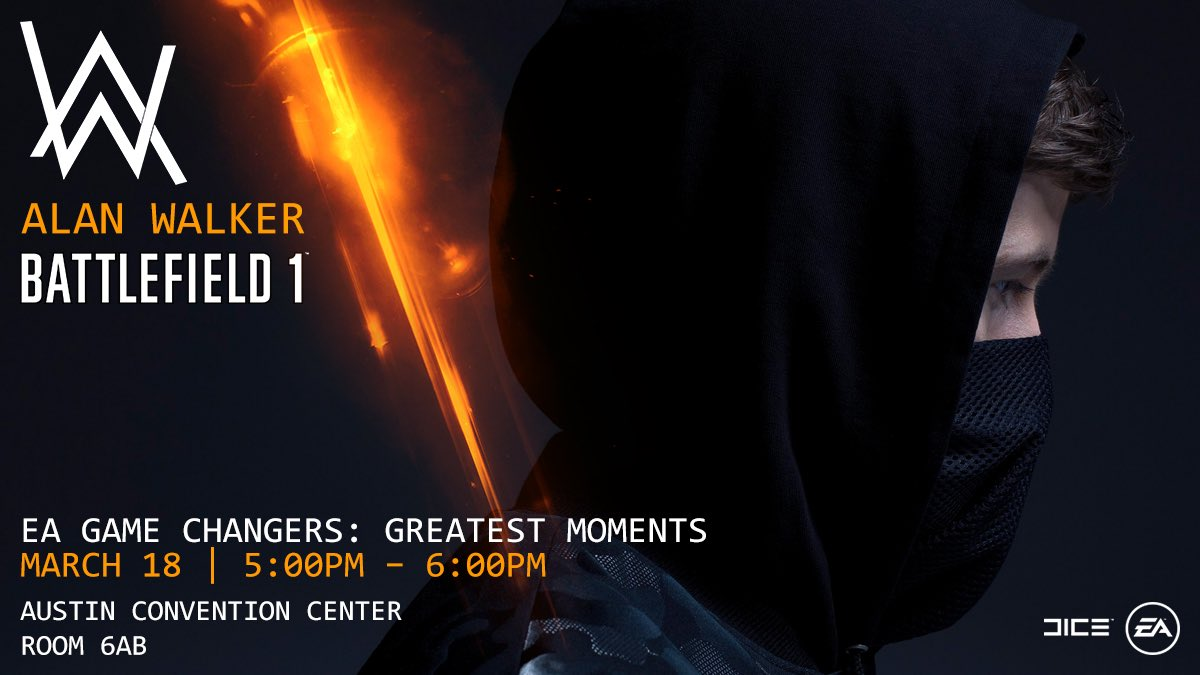 I\'ll be @SXSWGaming on an @Battlefield Greatest Moments panel today at 5pm for #BF1atSXSW!