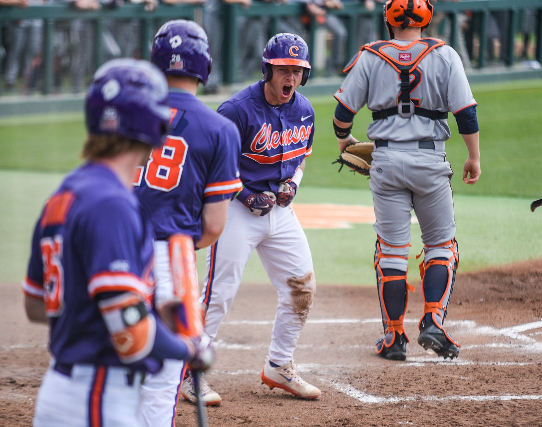 See #Clemson's 7-6 win over No. 11 Virginia in pictures by @bradleyamoore_ --->  https://t.co/muFvRd4dc3 https://t.co/DYRe01UW5R