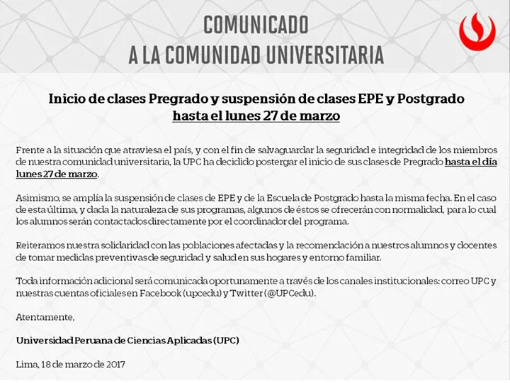 Comunicado a la comunidad universitaria https://t.co/838h7gdCVD
