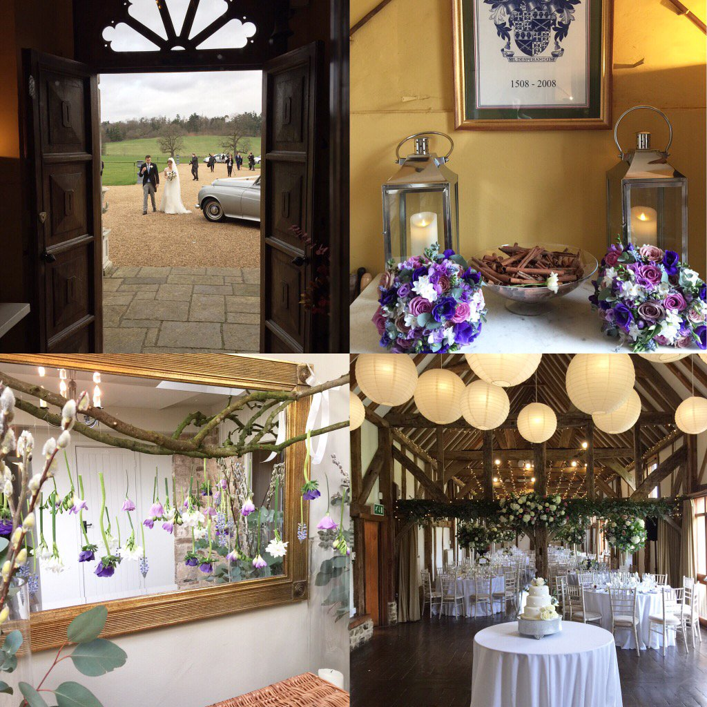 Snapshot from a lovely #wedding. Guests enjoyed drinks in the Great Hall before partying in the tithe #barn