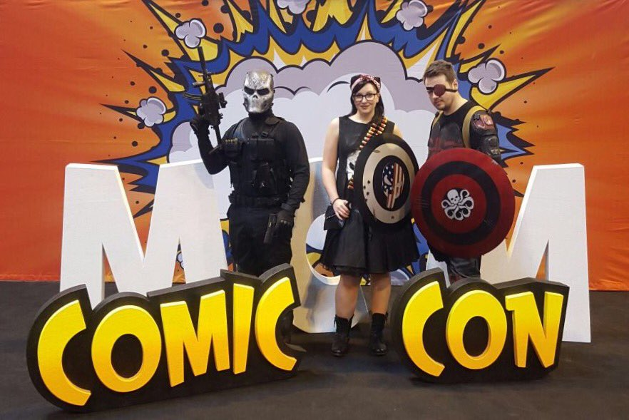 Crossbones, Pin-Up Punisher and Captain Hydra.  #mcmBHM17 #MCMBirmingham #Crossbones #Punisher #CaptainHydra #CaptainAmerica https://t.co/Q37TKtM8mU