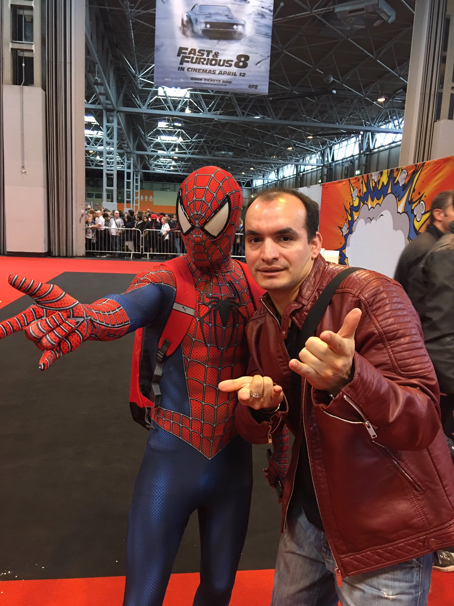 #SpiderMan @MCMComicCon Birmingham 🤘🏻🕷 #mcmBHM17 https://t.co/7dlwOUIbnW