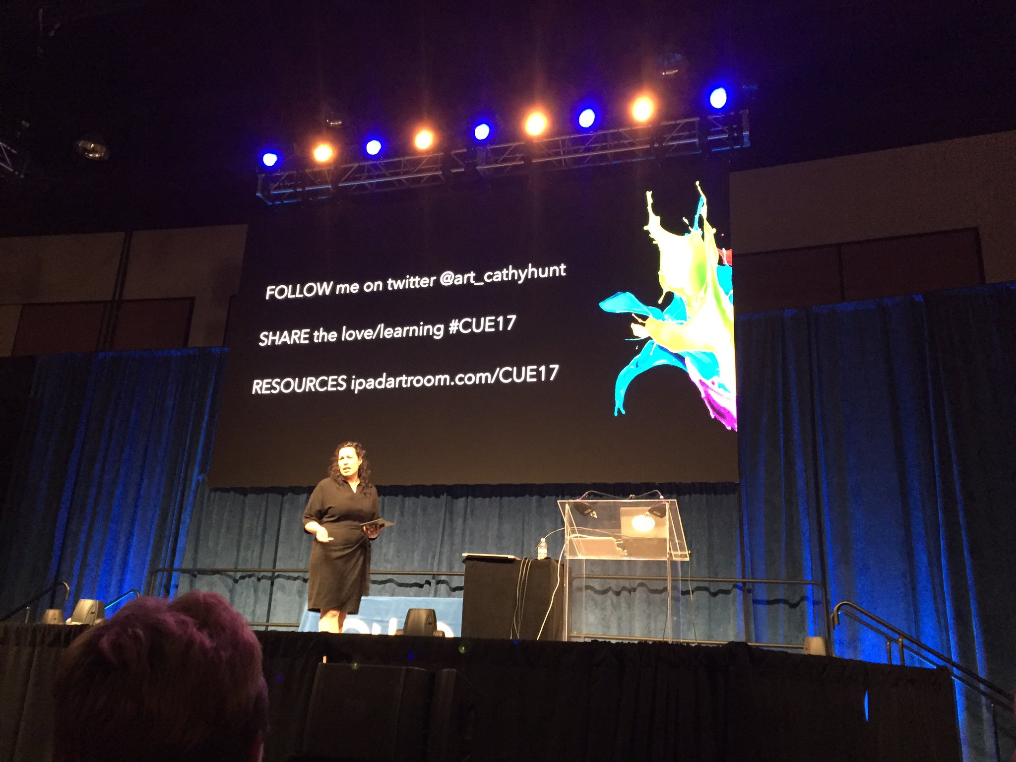 Can't wait to hear about art from the heART from @art_cathyhunt #cue17 https://t.co/4VZ8NsoFrd