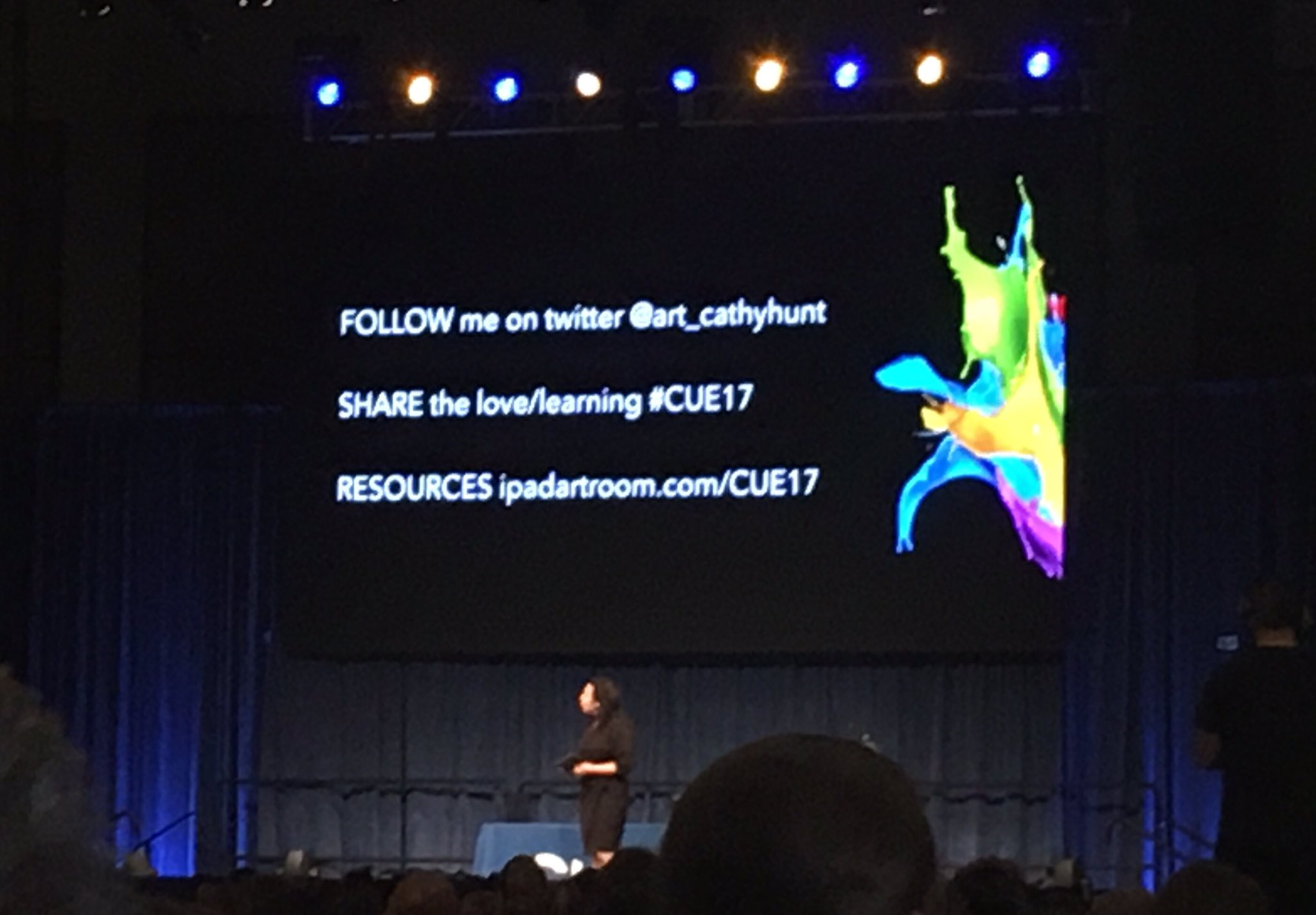 Couldn't make it to the closing keynote with @art_cathyhunt ? Here is the URL to access her resources! #CUE17 @Cre8ingArtNC14 https://t.co/24j8PZwbgh