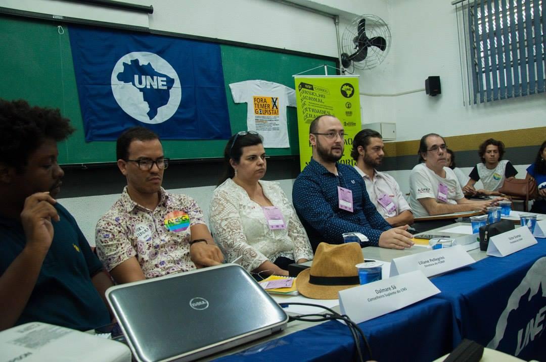Debate: Educação não é mercadoria  Foto: Guilherme Silva/ CUCA da UNE.  #65Coneg #EstudantesEmLuta #AUneSomosNós