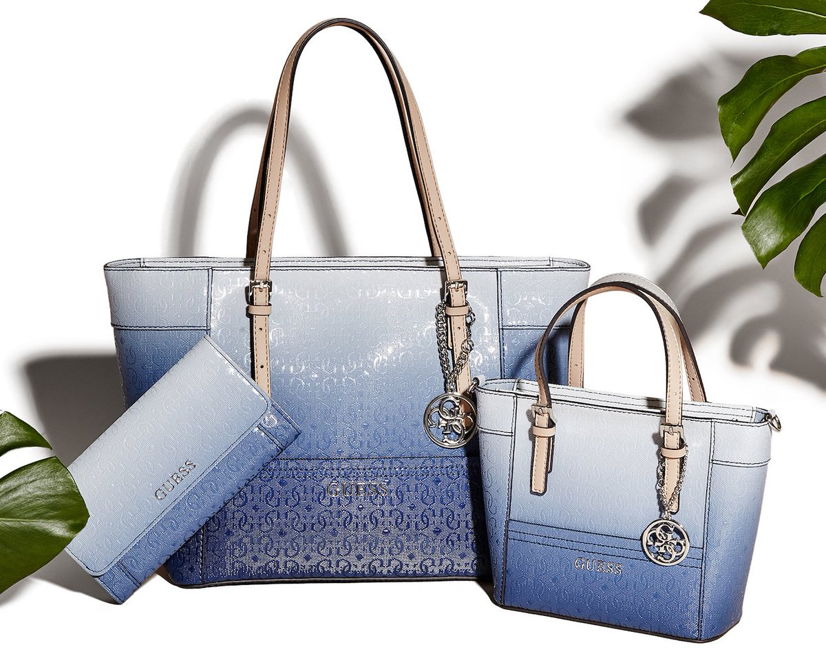 Guess On Twitter Your Fav Handbags From The Delaney Collection Just Got Updated In Blue Ombre It Exclusively At S T Co 3gf9wu3iem