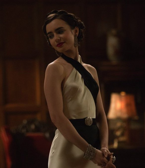 Happy Birthday to Lily Collins, co-star of \The Last Tycoon\ that shoots on our lot!