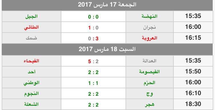 نادي النهضة السعودي On Twitter نتائج مباريات دوري الدرجة