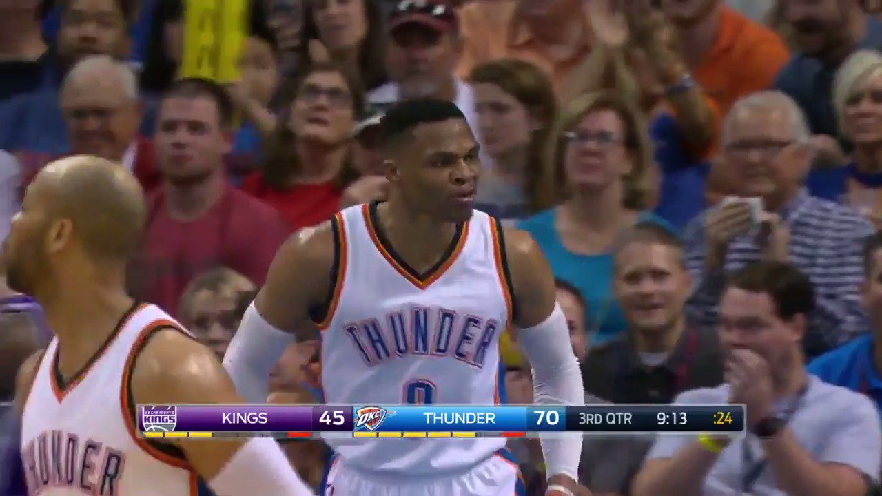Russ reminds us the NBA is still going on �� https://t.co/5t4vczjYyK
