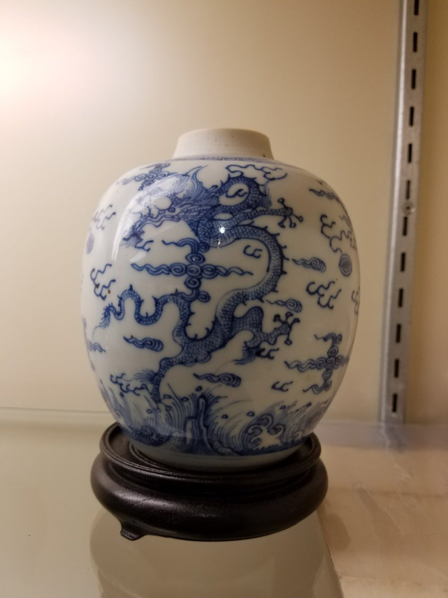 Tom pe on twitter ovoid blue white jar w cover ming dynasty ming dynasty mark but obviously kangxi period excellent control of the painted cobalt 13000 usd httpstvmzjv10nke reviewsmspy